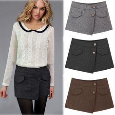 Find More Shorts Information about Hot Europe 2014 Winter Fashion New Women Irregualar Shorts Skirts Brand Casual Cotton Woolen Short Plus Size Shorts Feminino,High Quality shorts fashion,China fashion publicity Suppliers, Cheap fashion from Tina Fashion Woman Clothing Store