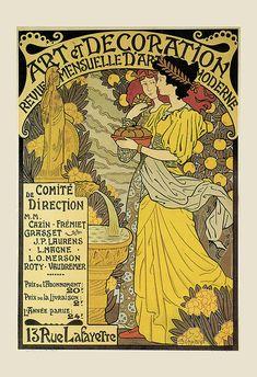 Vintage Art Nouveau Poster BELLE EPOQUE Poster Print Vintage French Art Poster…