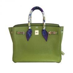 Bolsa Hermès Birkin 35 Couro Togo  Verde