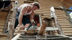 A man with a power tool. Sexy! Gabe Brown. Alaskan Bush people ♥