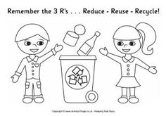 coloring page- 3 r's