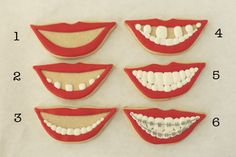 Teeth cookies...  with braces...  www.DrDOrtho.com
