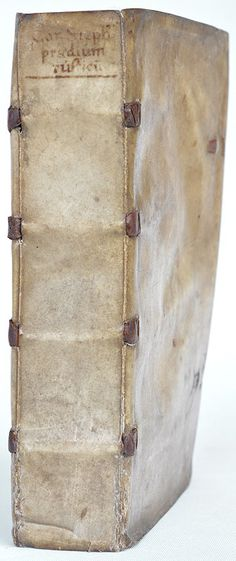 Estienne, Praedium Rusticum, Paris 1554 in a contemporary 'tacket' binding. The slightly raised spine bands conceal brass rods. Intrigiuing, but not actually unusual.