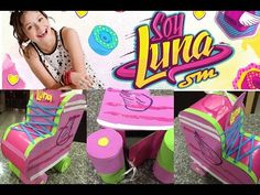 piñata en forma de patin, Soy luna, shaped pinata skate - YouTube