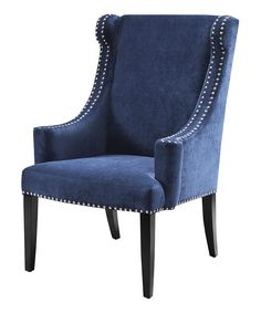 Black Noir & Royal Blue Accent Chair | Daily deals for moms, babies and kids