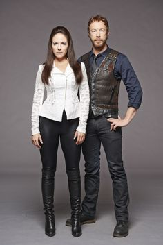 Lost Girl - Anna Silk as Bo and Kris Holden-Ried as Dyson Lost Girl Season 5, Girls Season, Lost Girl Fashion, Girl Pictures, Girl Photos, Girl Pics, Lost Girl Bo, Kris Holden Ried, Anna Silk