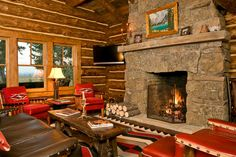 Architecture and home: brilliant log cabin living room furniture on club lo Home Design, Diy Design, Cabin Design, Design Case, Cottage Design, Design Ideas, Rustic Design, Cabin Homes, Log Homes