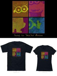 Camisetas Minions: estilo Andy Warhol.