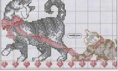 Schema punto croce Famiglia Gatti 1