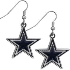 Dallas Cowboys Chrome Dangle Earrings