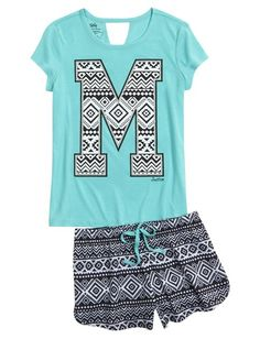 Shop Initial Tribal Pajama Set and other trendy girls pajamas sleepwear at Justice. Find the cutest girls sleepwear to make a statement today.