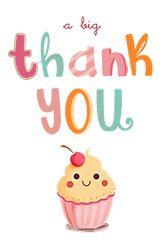 "Big Thank You - Birthday Thank You Card (Free ""A Big Thank You"" printable card. Customize, add text and photos. Print for free!""A Big Thank You"" printable card. Customize, add text and photos. Print for free!"