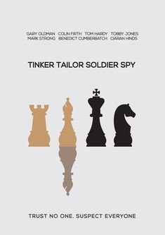 Tinker Tailor Soldier Spy (2011) ~ Minimal Movie Poster by Besim Hakramaj #amusementphile