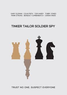 Tinker Tailor Soldier Spy (2011) ~ Minimal Movie Poster by Besim Hakramaj #amusementphile