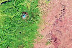 Oregon Rain Shadow : Image of the Day : NASA Earth Observatory