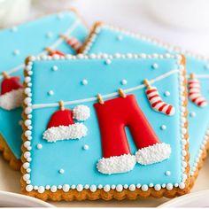 Biscoitos muito fofos para o Natal!! @spaceshipsandlaserbeams ❤️ #kikidsparty