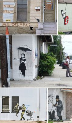 Banksy Art in New Orleans after Katrina: Hope, Fear, Tension, Dilemma, History and Rebuilding