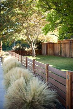 Radiant Front yard fence styles,Garden fence ideas and Wooden fence sections. Backyard Fences, Fenced In Yard, Front Yard Landscaping, Landscaping Ideas, Garden Fencing, Backyard Privacy, Front Yard Fence Ideas Curb Appeal, Back Yard Fence Ideas, Outdoor Fencing