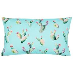 "Cactus Aqua Pillow Cover – 12"" x 21"" at Indigo.ca"