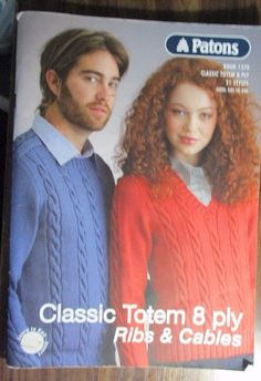 PATONS KNITTING PATTERN NO.1270 LADIES & MEN'S KNITWEAR SIZE XXS-XL #Patons