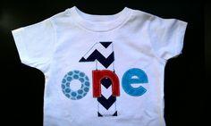 Chevron Birthday Shirt First Birthday Boys Shirt or Onesie gift photo prop zig zags modern. $18.95, via Etsy.