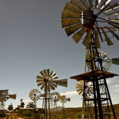Windmill Museum, Loeriesfontein - near Calvinia. Water Wheels, Wind Mills, Wind Of Change, Country Scenes, Barns, West Coast, Cry, South Africa, Landscape Photography