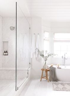 Bathroom Shower Shower with Large Plate Opal White Marble Peasant . Farmhouse Bathroom Shower Shower with Large Plate Opal White Marble Peasant .,Farmhouse Bathroom Shower Shower with Large Plate Opal White Marble Peasant . Coastal Bathrooms, Modern Bathroom, Small Bathroom, Bathroom Showers, Bathroom Storage, Dream Bathrooms, Bathroom Ideas White, Beach House Bathroom, White Master Bathroom