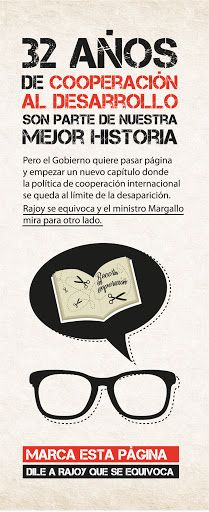 Material de la campaña Para Rajoy la cooperación al desarrollo vale cero http://32xrajoy.blogspot.com.es/