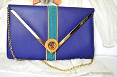 The elegant dragonfly - restyled clutch, blue clutch with resin pendant detail, hardcover clutch, womens fashion,unique design, clutch purse by Melifluo on Etsy