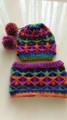 Şapka boyunluk renkli takım hergarenk