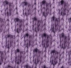 Simple Honeycomb Knitting Stitch.
