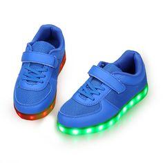 Blau Schuhe Mit LED Ein Klettver Kinder