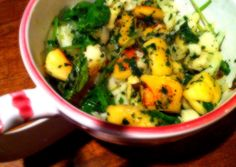 gnocchi ricotta with greens and cauliflower