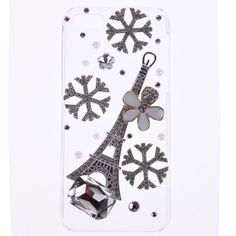 Stylish Bling Crystal Snowflake Tower 3D Case Hard Cover For Apple iphone 5 5S