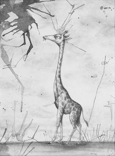 """""""Giraffe"""" -- Brian Mashburn Giraffe Images, Giraffes, Moose Art, Animals, Animales, Animaux, Animal, Animais, Giraffe"""