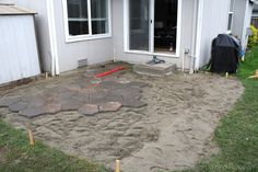 DIY stone patio- mike is going to be busy!