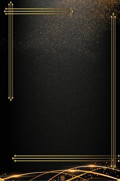 Black Gold Business Invitation Invitation Background Template