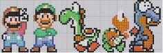 free cross stitch patterns | Super Mario World Stitch pattern