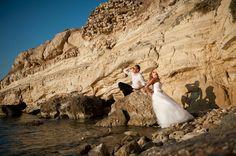 Sesja ślubna na Krecie. Wedding photosession in Crete, Greece. Sesja ślubna na plaży. Wedding photography