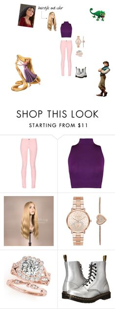 """""""Modern day Rapunzel from Tangled"""" by adancer4592 on Polyvore featuring Maison Kitsuné, WearAll, Michael Kors, Dr. Martens, Disney and modern"""