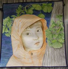 Under the Ginkgo Tree by Tanya Brown, California.  2014 PIQF, photo by Quilt Inspiration