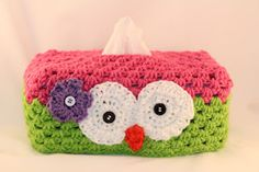 Owl Tissue Box Cover Crochet Pattern