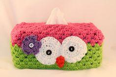 Owl Tissue Box Cover Crochet Pattern