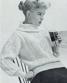 1958 Women's Pullover | Style No. 141 | Knitting Patterns
