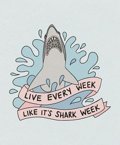 Shark Week art print