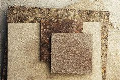 Affordable building materials from recycled agricultural waste materials eco