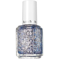 essie metallics nail color, frilling me softly 0.46 oz (14 ml) ($8.50) ❤ liked on Polyvore featuring beauty products, nail care, nail polish, nails, beauty, makeup, essie nail polish, essie nail color and essie