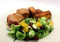 Mørbrad med cidersauce og salat