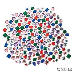 Self-Adhesive Jewels 500 for $8.50 on Oriental Trading for Shield Decoration (Day 3)