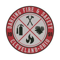 Logo for fire and safety equipment company. National Safety, Logo Design, Graphic Design, Fire Safety, Media Design, Tee Shirt, Identity, Behance